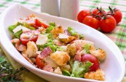 салат с беконом рецепт
