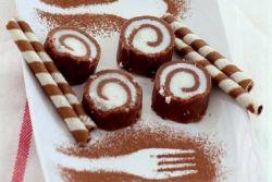 шоколадно кокосовый рулет