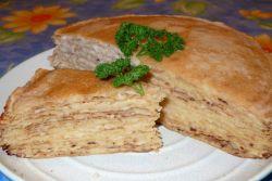 блинный пирог с фаршем