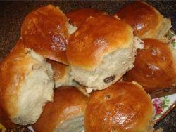 булочки с изюмом в духовке рецепт с фото