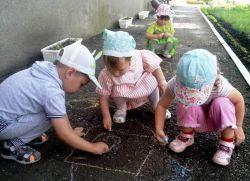 Развлечение в детском саду летом