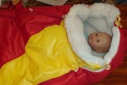 зимний конверт для новорожденных 13
