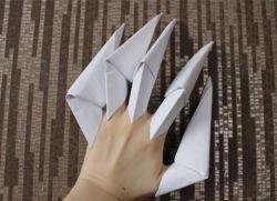как сделать из бумаги ногти