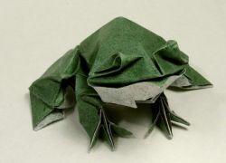 как сделать жабу из бумаги