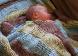 плед для новорожденного спицами