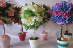 топиарии из искуственных цветов