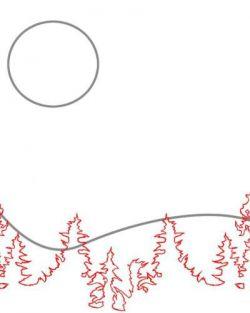 Как нарисовать луну 14
