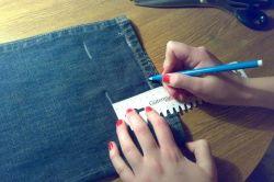 как правильно укоротить джинсы