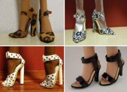Как сделать кукле барби обувь
