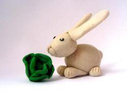 Как сделать зайца поэтапно из пластилина