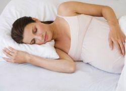 Как лежать при беременности