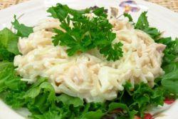 Кальмаровый салат: рецепт классический