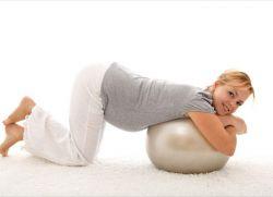 Коленно локтевое упражнение для беременных