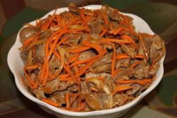 Корейские острые салаты из куриных желудков рецепты