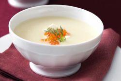 луковый крем суп с семгой