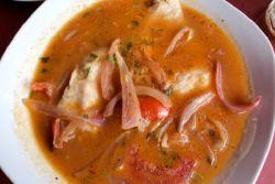 луковый суп с семгой