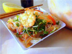 фунчоза с креветками в сливочном соусе рецепт