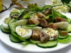 салат из печени трески простой рецепт