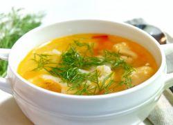суп овощной с курицей и цветной капустой