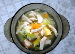 суп с капустой и курицей