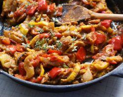 баклажаны тушеные с овощами рецепт