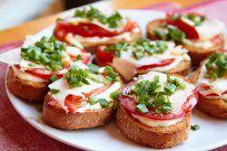 бутерброды фото с колбасой