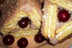 десерт из печенья и сметаны