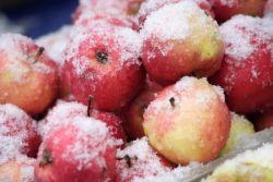 десерт яблоки на снегу