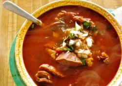 фасолевый суп с солеными огурцами