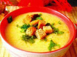 гороховый суп пюре с гренками