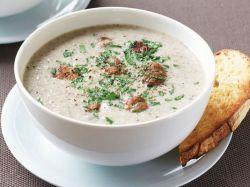 грибной суп-пюре с фрикадельками