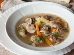 грибной суп с фрикадельками рецепт