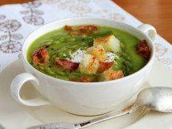куриный суп со спаржей горошком