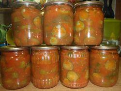 Необычные рецепты  Ogurcy_v_tomatnom_soke