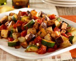 Рецепт приготовления рагу овощного с баклажанами и кабачками, с картофелем картинки