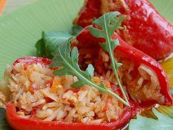 перец фаршированный капустой и рисом