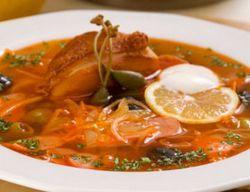 рецепт солянки с копченой курицей