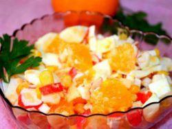 салат крабовые палочки с апельсином