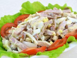 салат грибы ветчина сыр