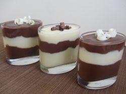 шоколадно ванильный пудинг