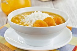 сладкий рисовый суп из сухофруктов