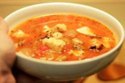 суп из рыбных консервов скумбрия