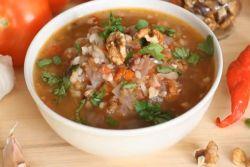 суп с рисом и говядиной