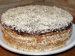 Торт из коржей и вареной сгущенки