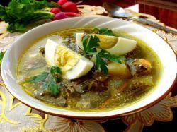 зелёный борщ со щавелем рецепт