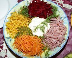Овощной салат радуга