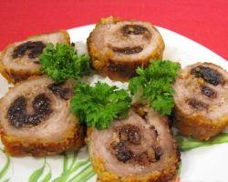 Пальчики из свинины с черносливом