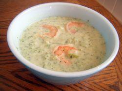 Рецепт сырного супа с креветками