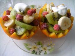 салаты из фруктов для детей