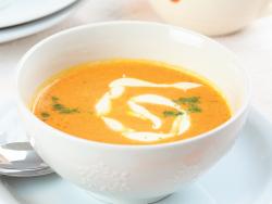 суп пюре из моркови со сливками